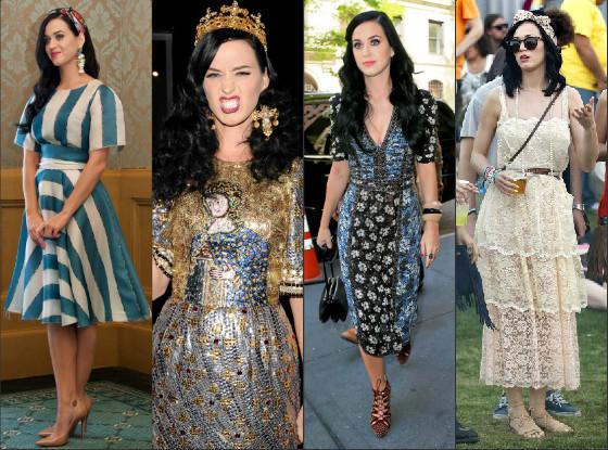 Katy Perry e seus vestidos