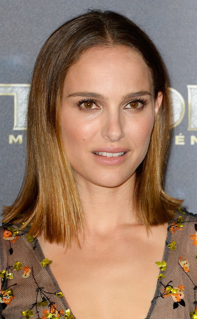 Natalie Portman Debuts Haircut Ombr Colorsee Her New Do E News