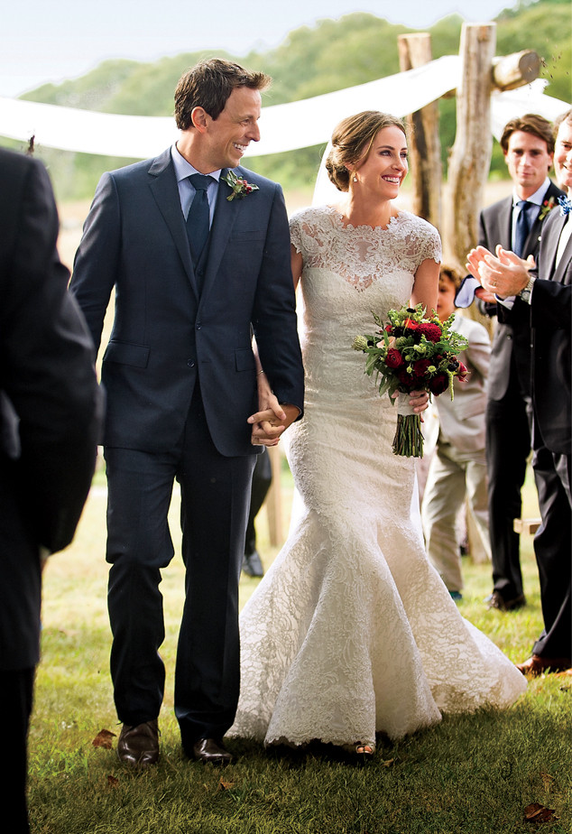 Newlyweds Seth Meyers And Alexi Ashe Featured In Vogue Magazinesee