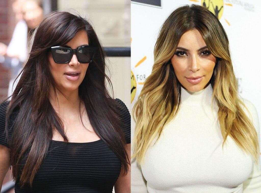 Kim Kardashian From Celebrities Changing Hair Color E News