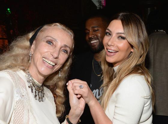 Kanye West, Franca Sozzani, Kim Kardashian