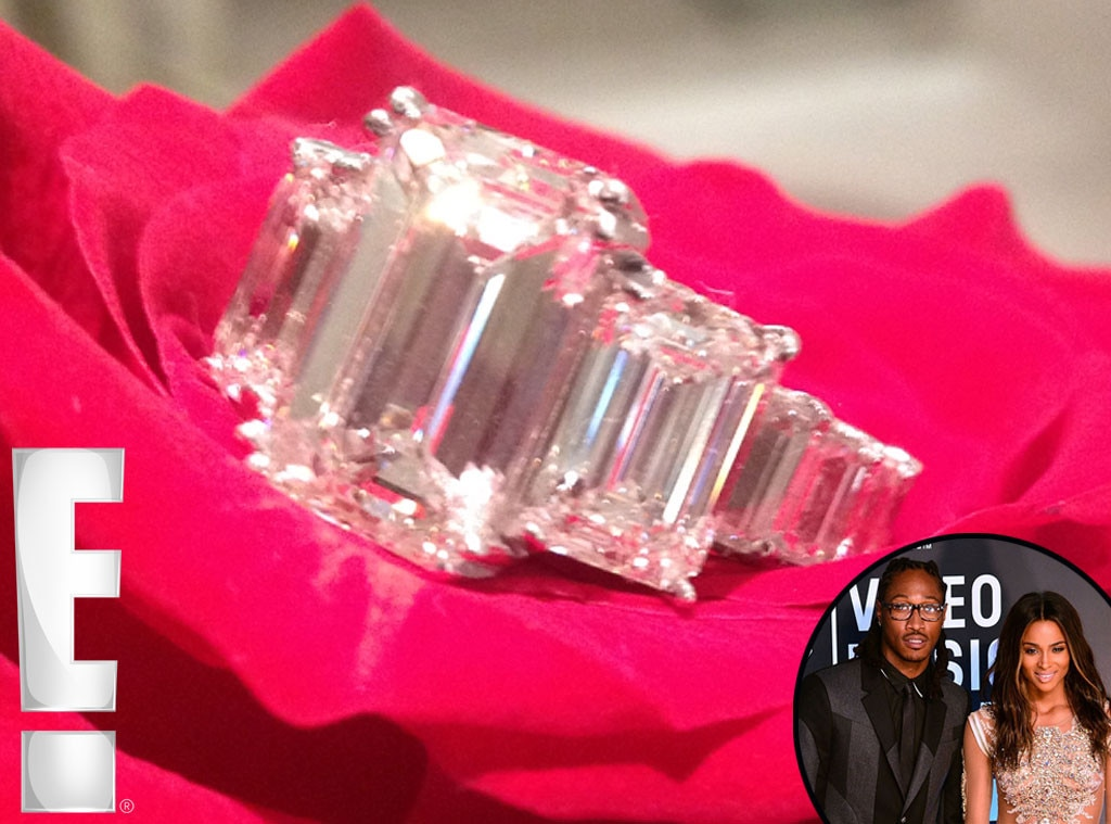 Ciara Engaged to FutureSee the Singers 15Carat Engagement Ring