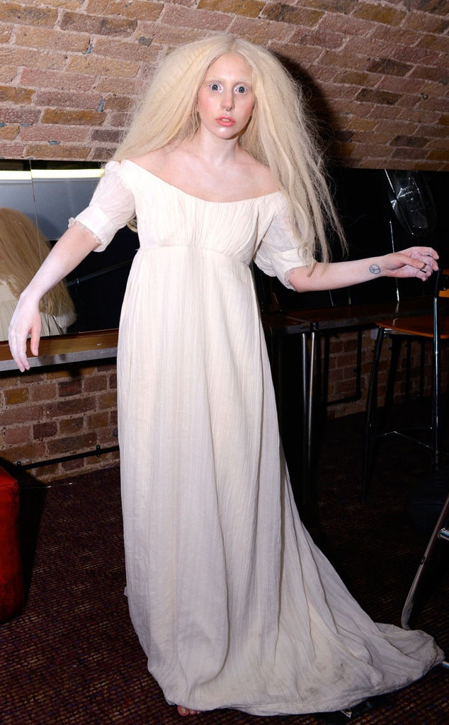 Ghostly Gaga From Lady Gagas Most Bizarre Looks  E News-4246
