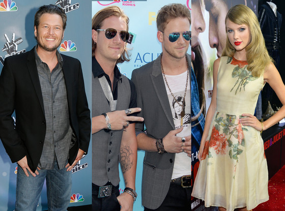 Taylor Swift, Blake Shelton, Florida Georgia Line