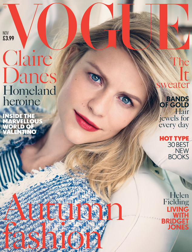 Claire Danes Looks Completely Different on British Vogue Cover