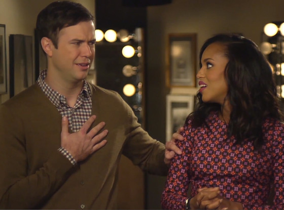 Taran Killam, Kerry Washington, SNL, Saturday Night Live