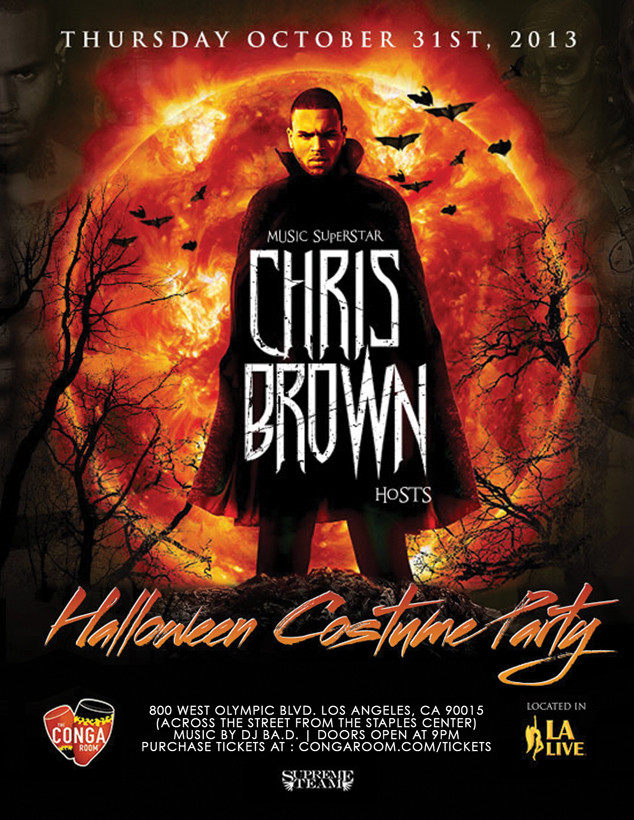 Chris Brown Halloween Party Flyer