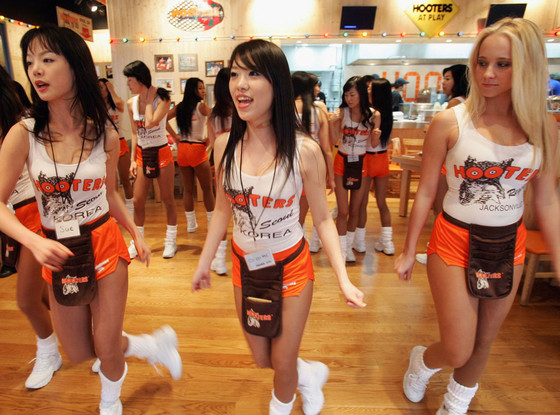 South Korean girls of Hooters