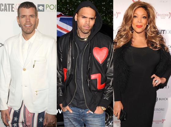 Perez Hilton, Chris Brown, Wendy Williams