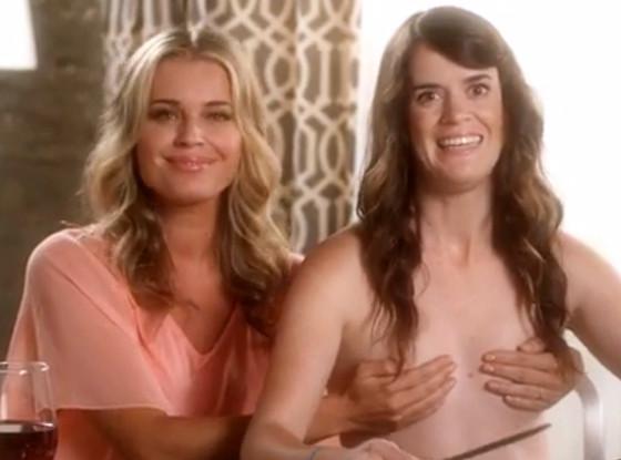 Topless Rebecca Romijn Models The Hand Bra In Honor Of -5273