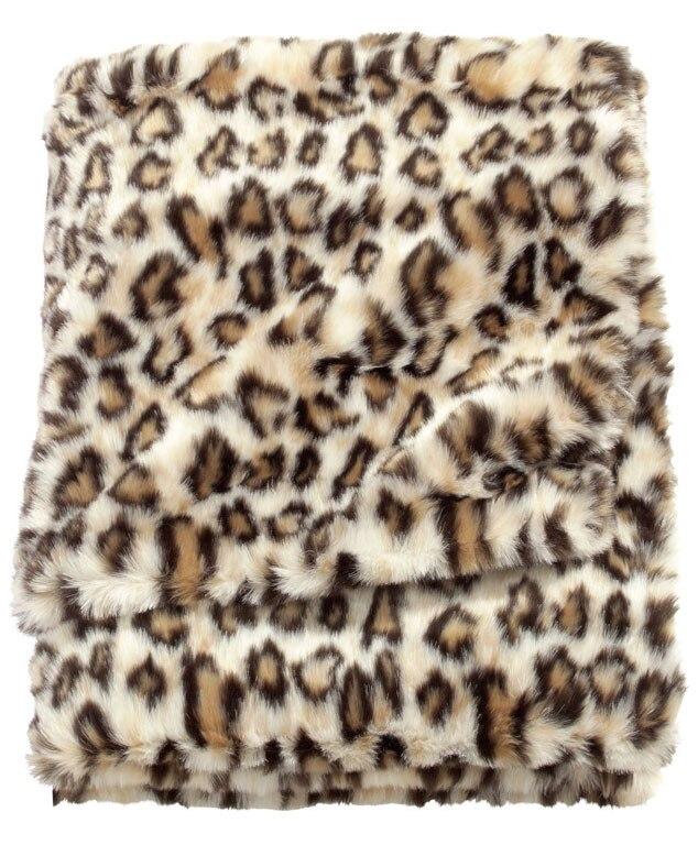 Fall Home Decor, H&M Faux Fur Animal Print Blanket
