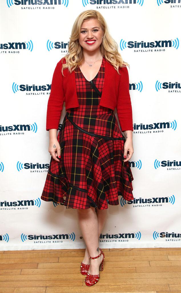 Kelly Clarkson Looks Like a Lumberjack in This Dress!