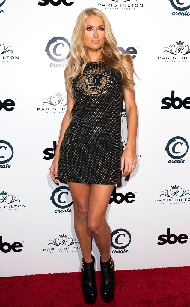 Paris Hilton Proves You Can't Teach an Old Dog New Fashion Tricks in a Sparkly LBD