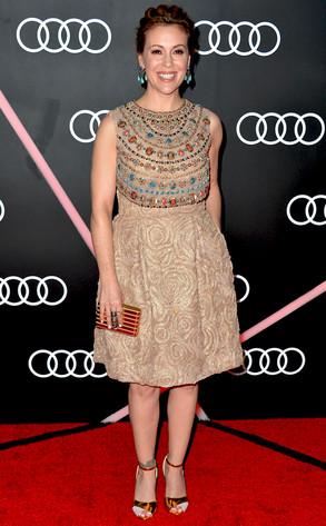 Alyssa Milano, Golden Globes Parties, Audi