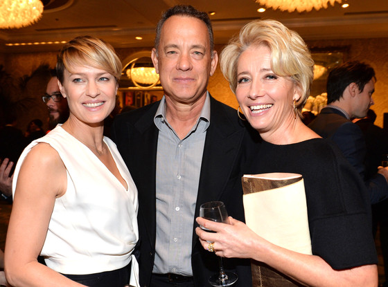 Actors Robin Wright, Tom Hanks, Emma Thompson, AFI Luncheon