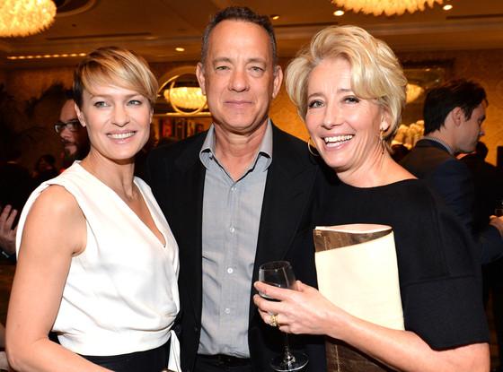 Actors Robin Wright, Tom Hanks, Emma Thompson, AFI Luncheon