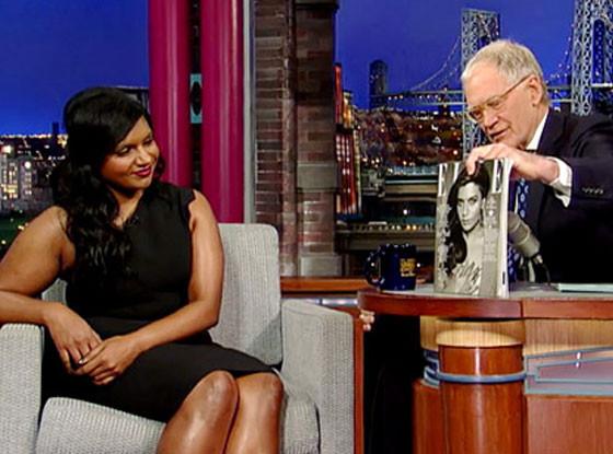 Mindy Kaling, David Letterman