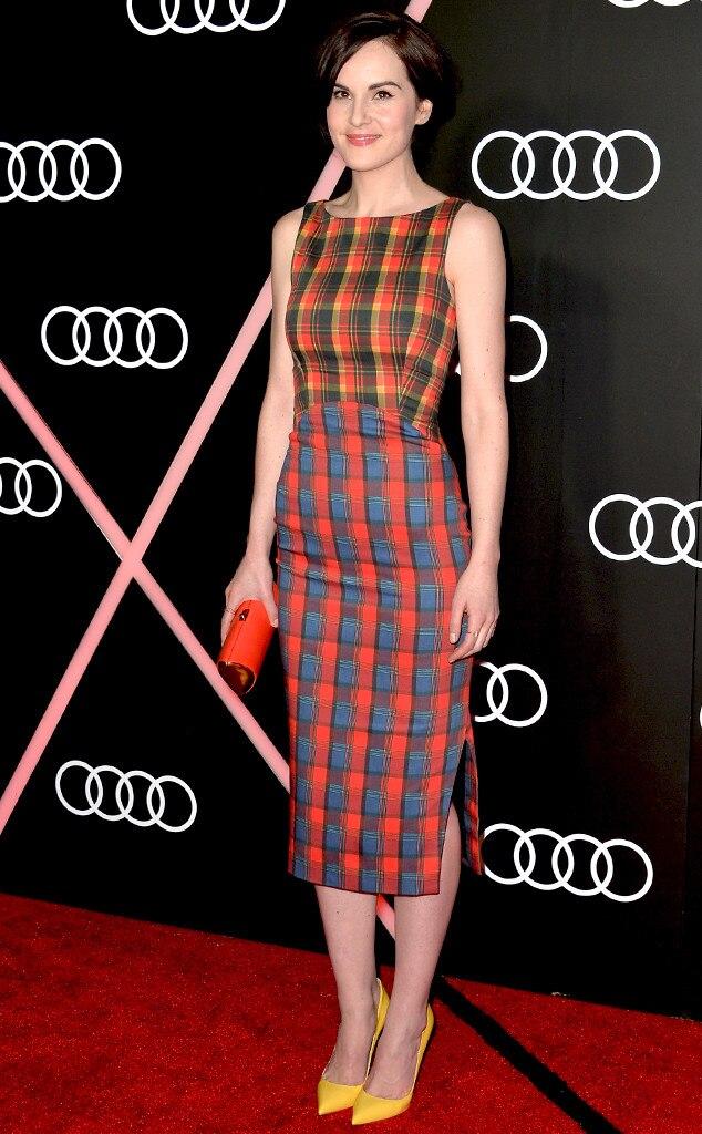 Michelle Dockery, Golden Globes Parties, Audi