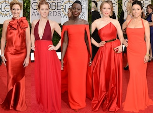 Lupita Nyong'o, Amy Adams, Julia Louis-Dreyfus, Julie Deply, Edie Falco, Golden Globes 2014