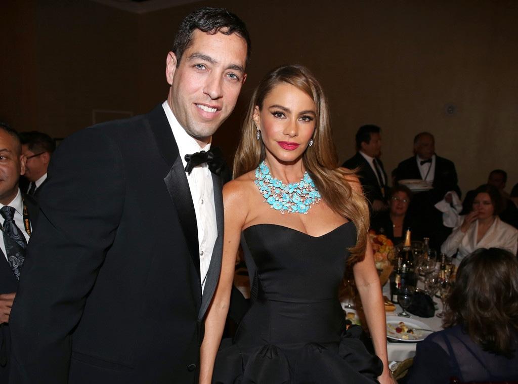 Sofia Vergara, Nick Loeb, Golden Globes 2014