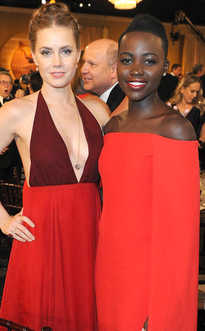 Amy Adams, Lupita Nyong'o, Golden Globes 2014