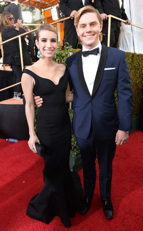 Emma Roberts, Evan Peters, Golden Globe Awards