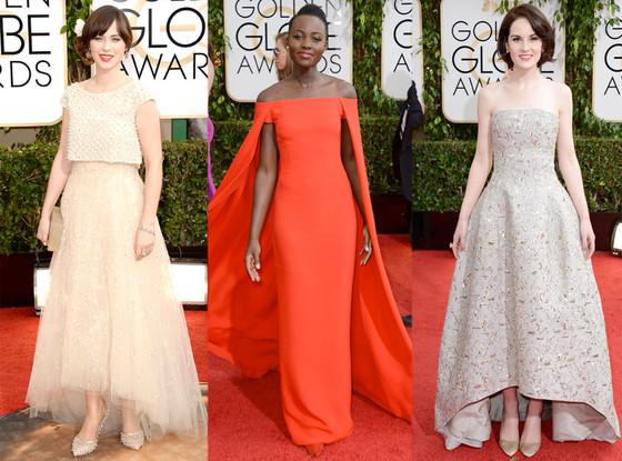 Zooey Deschanel, Lupita, Nyong'o, Michelle Dockery, Golden Globes