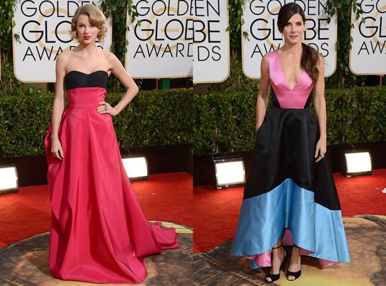 Taylor Swift, Sandra Bullock, Golden Globes 2014