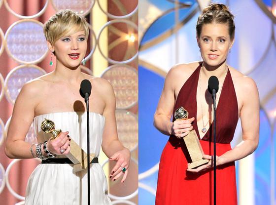Amy Adams, Jennifer Lawrence, Golden Globe 2014