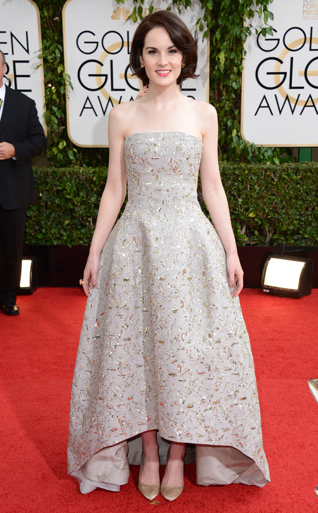 Michelle Dockery, Golden Globes, Oscar de la Renta