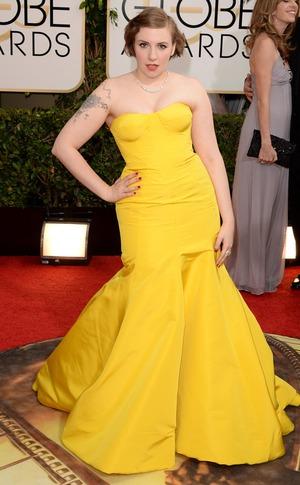 Lena Dunham, Golden Globes, 2014