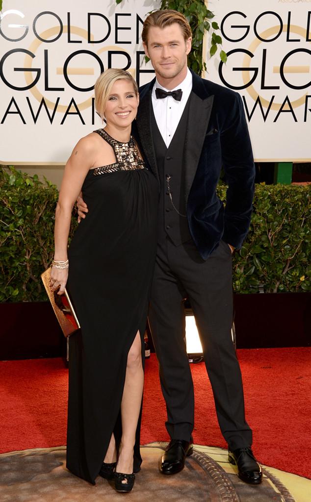 Elsa Pataky, Chris Hemsworth, Golden Globes