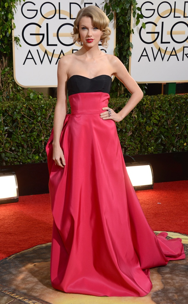 Pretty In Pink -  Long before  reputation  was released,  Taylor Swift  attended the 2014 Golden Globes in style.