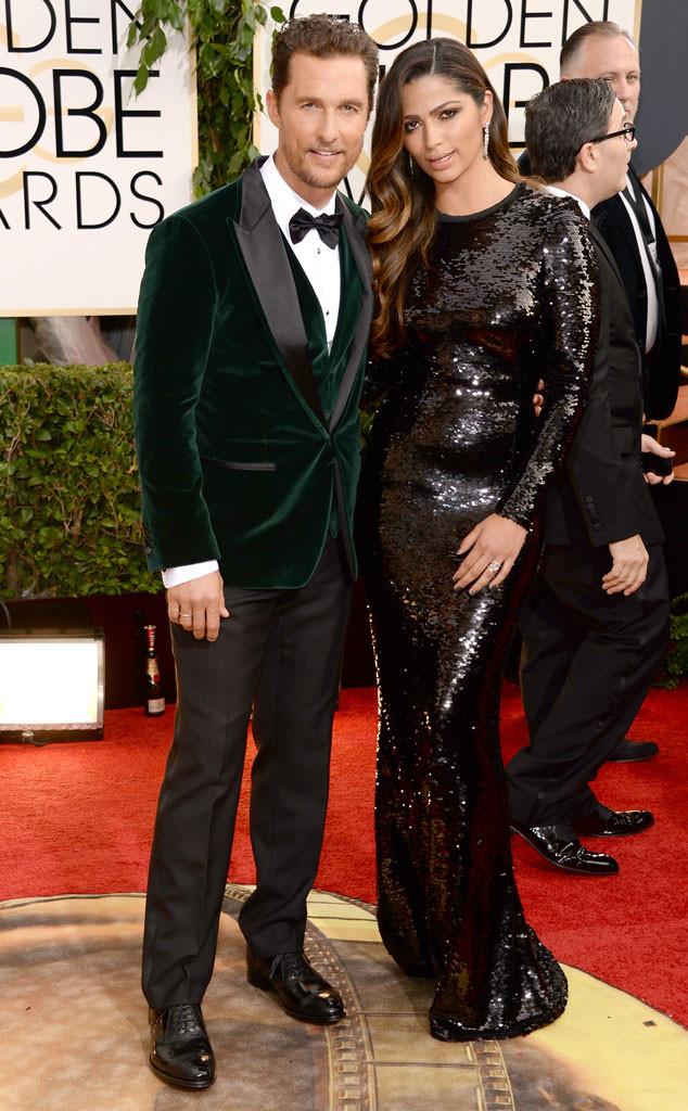 Matthew McConaughey, Camila Alves, Golden Globes 2014