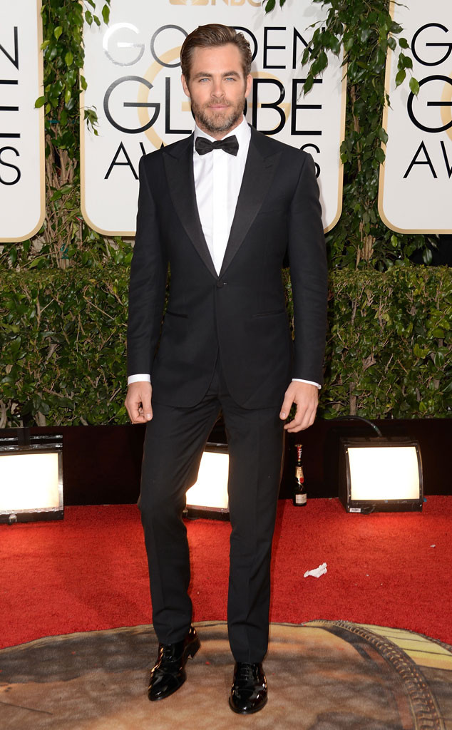 Chris Pine, Golden Globe 2014