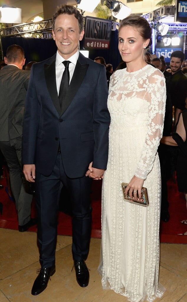 Seth Meyers, Alexi Ashe, Golden Globes 2014