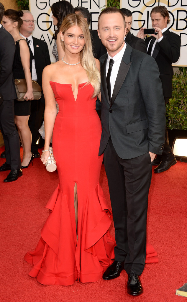 Aaron Paul, Lauren Parsekian, Golden Globes