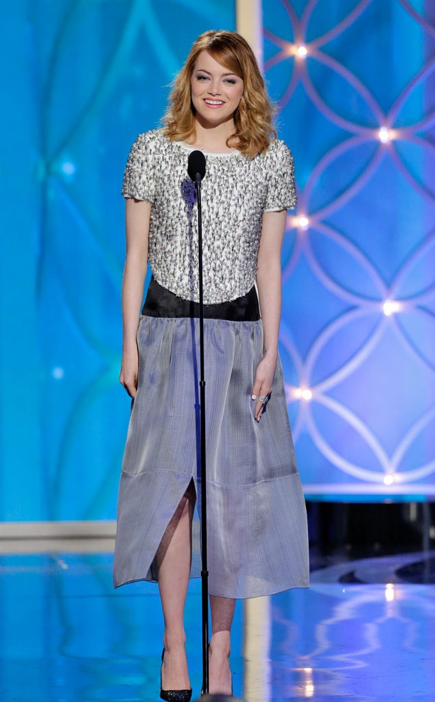 Emma Stone, Golden Globes 2014