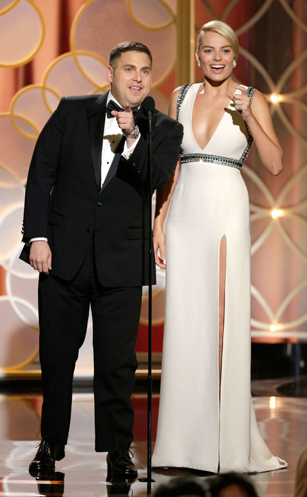 Jonah HIll, Margot Robbie, Golden Globe Awards Show