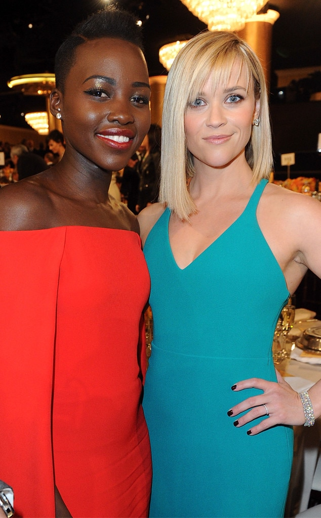 Lupita Nyong'o, Reese Witherspoon, Golden Globes 2014