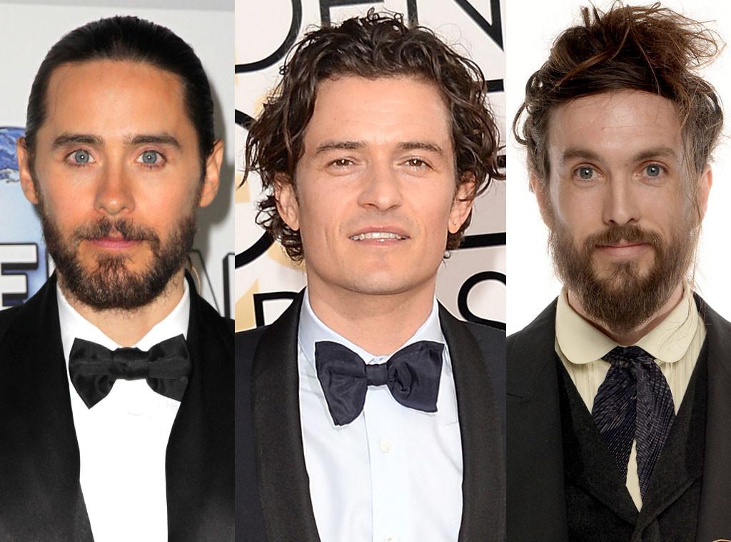 Jared Leto, Alex Ebert, Orlando Bloom, Golden Globe Awards, Bearded Hairy Guys