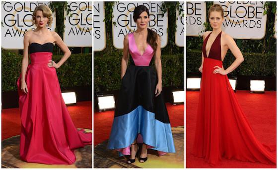 Vestidos coloridos são tendência no Globo de Ouro