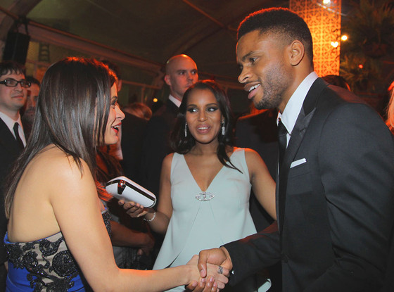 Kerry Washington, Nnamdi Asomugha, Golden Globes