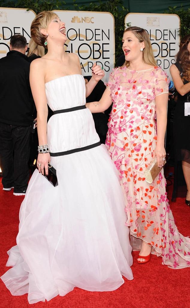 Jennifer Lawrence, Drew Barrymore, Golden Globes