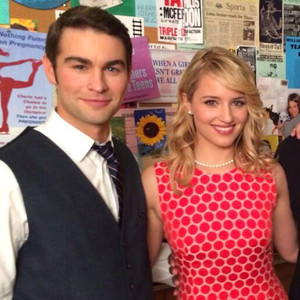 Chace Crawford, Dianna Agron, Mark Salling, Paris Barclay, Glee, Twitter