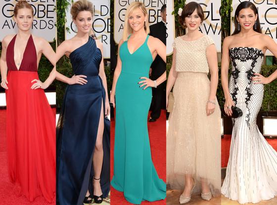 Amber Heard, Jenna Dewan-Tatum, Reese Witherspoon, Amy Adams, Zooey Deschanel, Golden Globes 2014