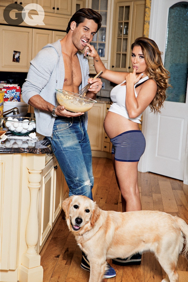 Domestic Bliss -  The couple got cozy and comfortable for a photo shoot with  GQ .