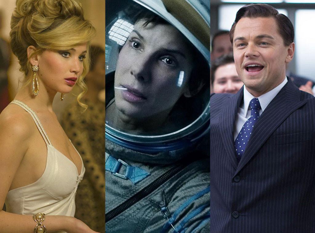 Jennifer Lawrence, Sandra Bullock, Leonardo DiCaprio