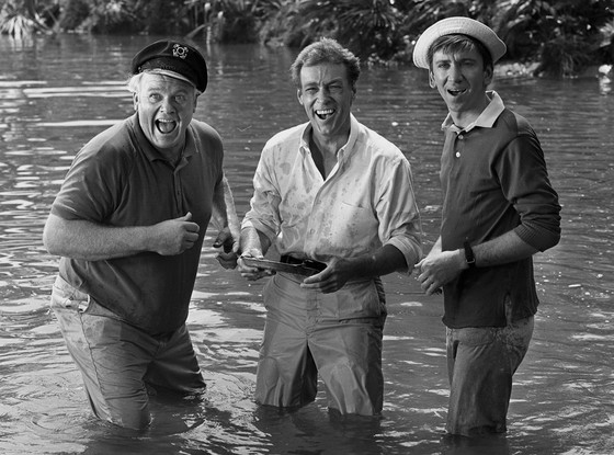 Alan Hale Jr., Russell Johnson, Bob Denver, The Professor, Gilligan's Island