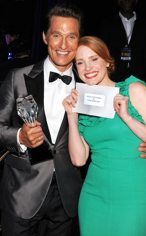 Matthew McConaughey, Jessica Chastain, Critics' Choice Movie Awards